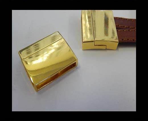 Zamak magnetic clasp MGL-299-20*4mm-Gold