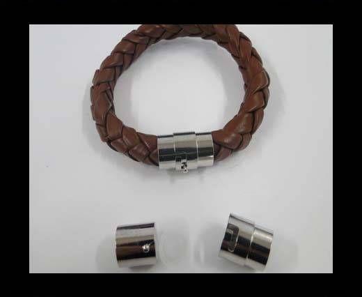 Zamak magnetic clasp MGL-7-10mm-steel silver