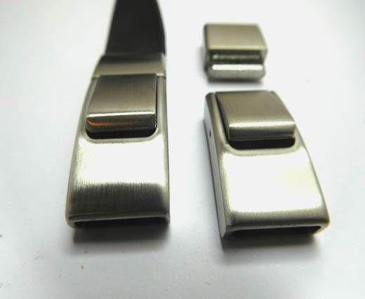 Stainless Steel Magnetic clasp MGST-244 -11.5*3MM-Steel Matt