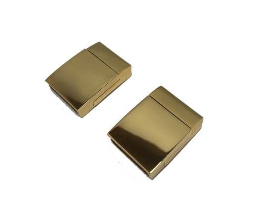 Stainless Steel Magnetic clasps - MGST-104-15*3mm-GOLD
