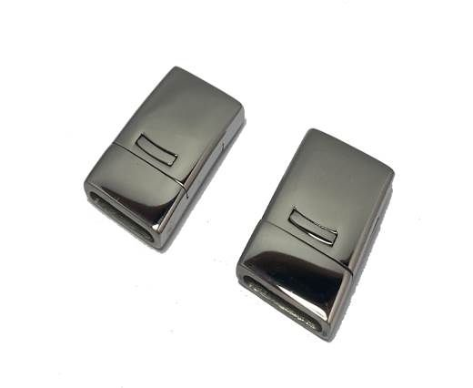 Stainless Steel Magnetic clasps - MGST-109-14*2,5mm-Silver