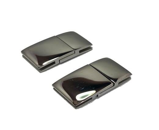 Stainless Steel Magnetic clasps - MGST-111-14*2,5mm-Silver