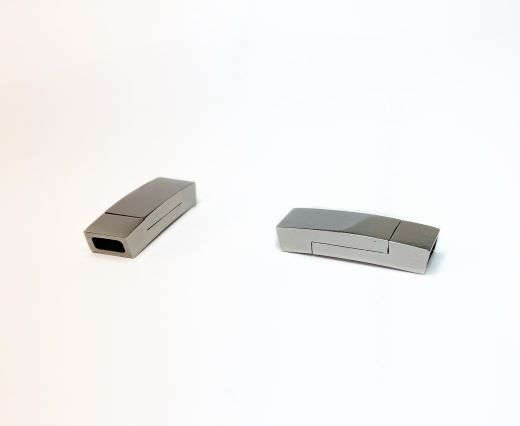 Stainless Steel Magnetic Clasps - MGST-102-5*3mm-Silver