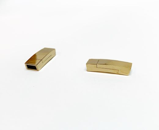 Stainless Steel Magnetic Clasps - MGST-102-5*3mm-GOLD