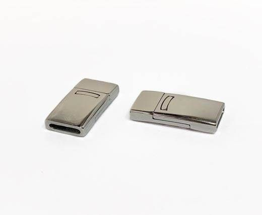 Stainless Steel Magnetic clasps - MGST-109-10*2,3mm-Silver