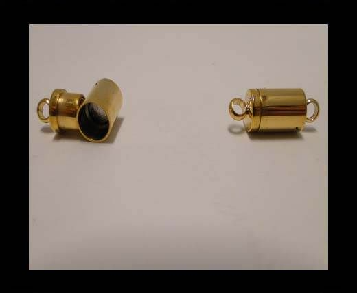 Stainless Steel Magnetic clasp MGST-123-7mm-Gold