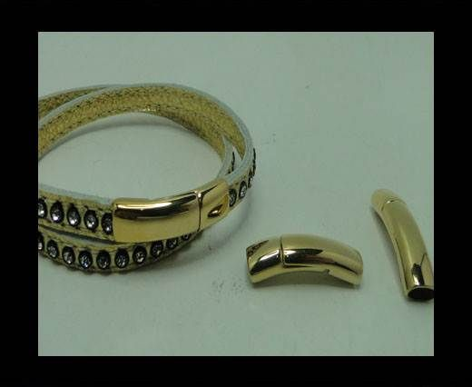 Stainless Steel Magnetic clasp MGST-139-6*3,5mm-GOLD