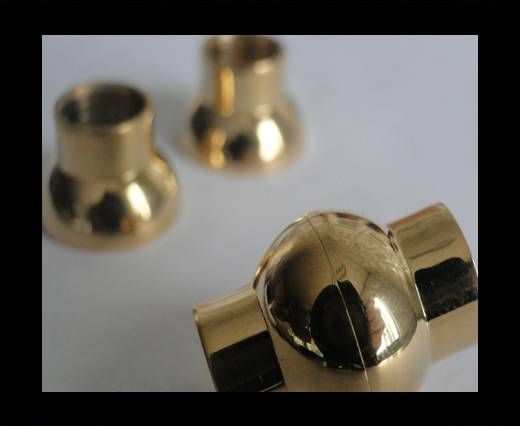 Stainless Steel Magnetic clasp MGST-19-8mm GOLD
