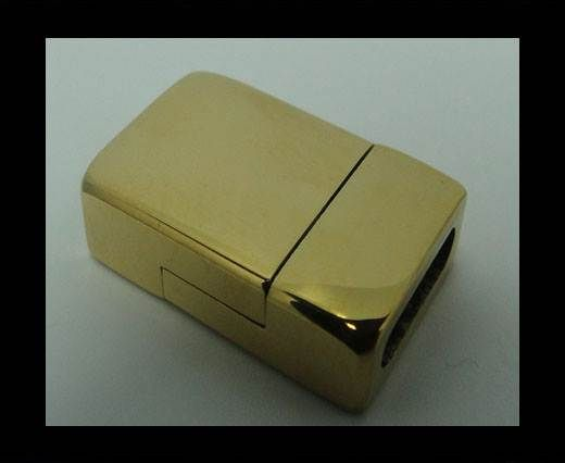 Stainless Steel Magnetic clasp MGST-76-10*2,5mm-GOLD