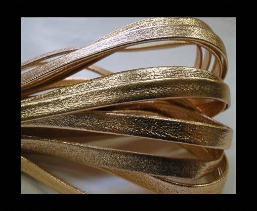 Nappa Leather Flat -5mm-gold rose lamina