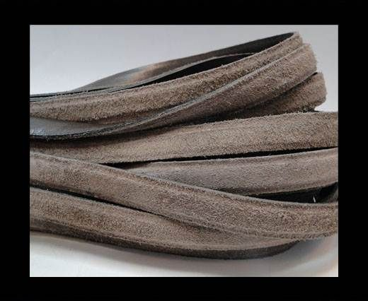 Nappa Leather Flat with suede Brown - 12mm
