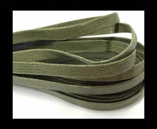 Nappa Leather Flat -10mm-Lizard Olive