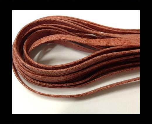 Nappa Leather Flat -10mm-Lizard Malboro Red
