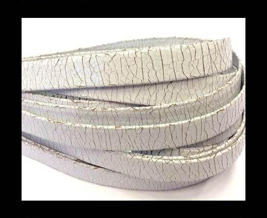Nappa Leather Flat -10mm-Crack White