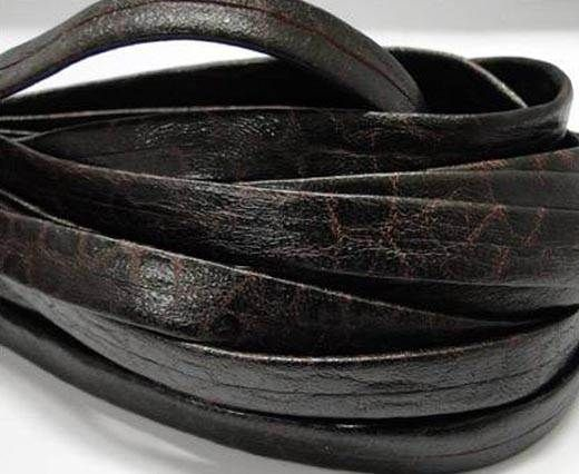 Nappa Leather Flat-plain style - Bordeaux-10mm