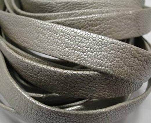 Nappa Leather Flat-plain style - Silver-10mm