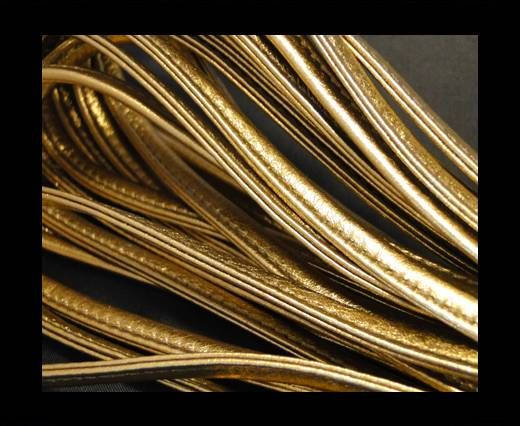 Nappa-Sewn-7mm-Plain- Gold
