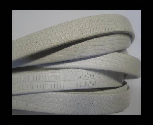 NappaFlat-Snake Style-10mm-white