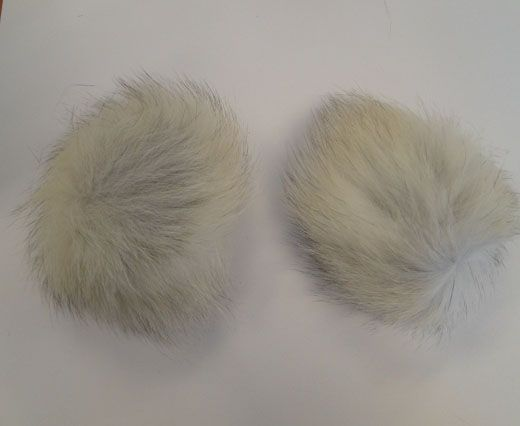 Fox Fur Pom Pom-Natural-10cms