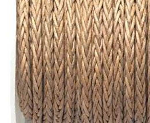 Round Braided Bolo Cords - 4mm - natural