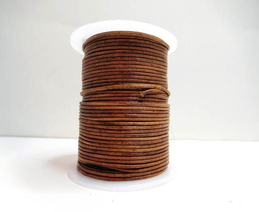 Round Leather Cord-1,5mm-Natural light brown