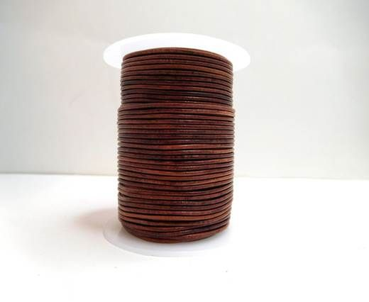 Round Leather Cord-1,5mm-Natural Red Brown