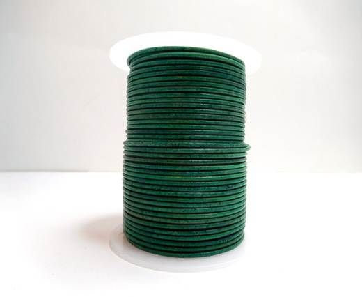 Round Leather Cord-1,5mm-Natural Turquiose