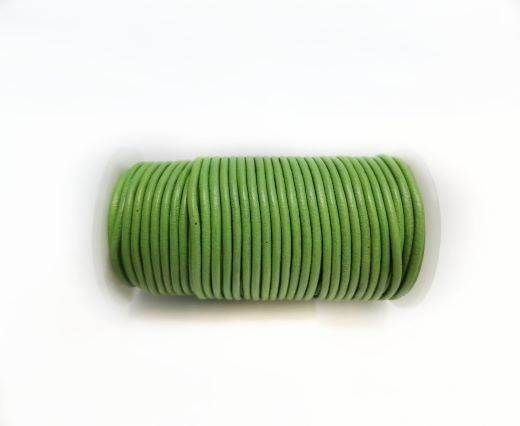 Round leather cord 2mm-OLIVE GREEN