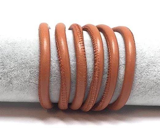 Round stitched nappa leather cord Style-Orange -6mm
