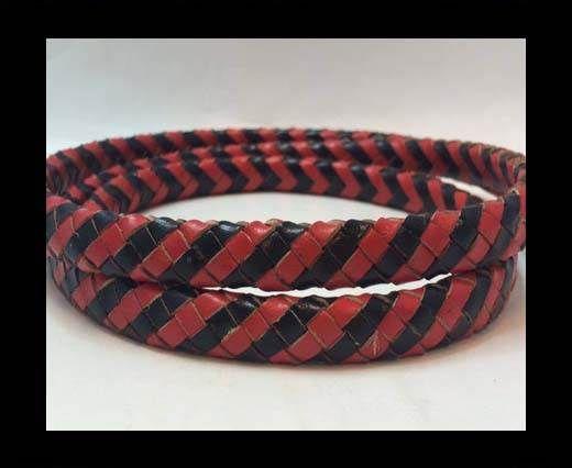 Oval Regaliz braided cords - Black & Se.R.12