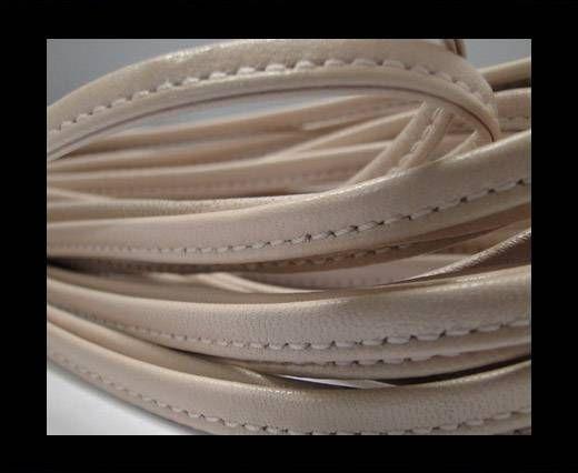 Real nappa leather stitched - 5mm - Vanilla