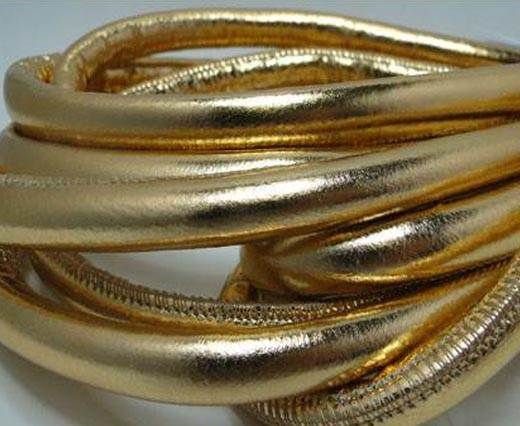 Real Nappa Leather Cords-Gold-10mm