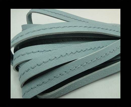 Real Nappa Leather with stitch in the middle-5mm-Blue