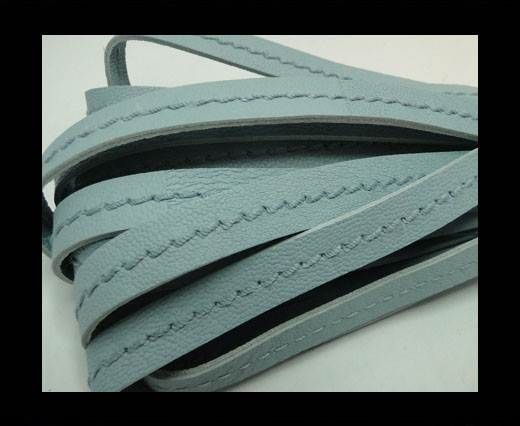 Real Nappa Leather with stitch in the middle-10mm-Blue