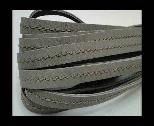 Real Nappa Leather with stitch in the middle-5mm-Light Taupe