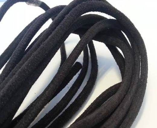 Real Nappa Suede Round-Dark Brown-4mm