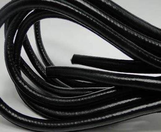 Real Round Nappa Leather cords - Black - 8mm