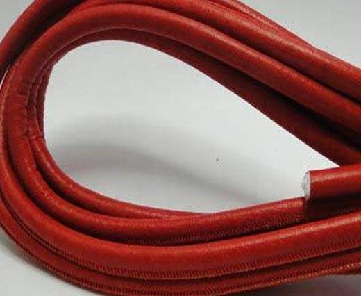 Real Round Nappa Leather cords - Malboro Red - 8mm