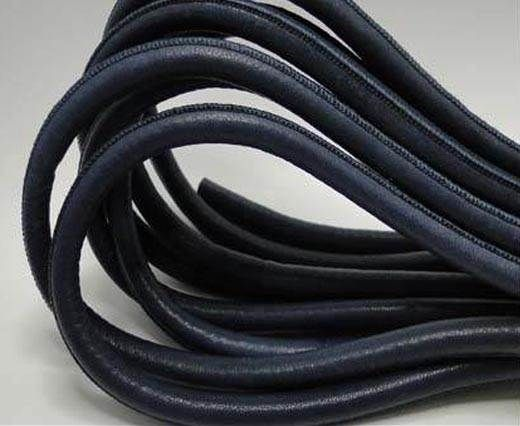 Real Round Nappa Leather cords - Navy Blue - 8mm