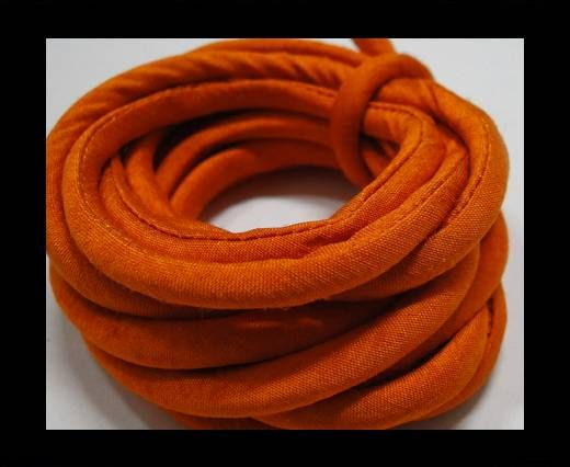 Real silk cords with inserts - 4 mm - Saffron