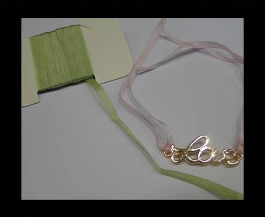 Real Silk Ribbons -A 152-Light Green - 4mm