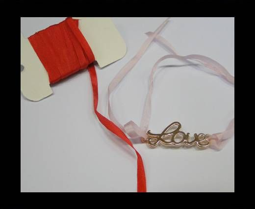 Real Silk Ribbons -A 126-Bright Red - 4mm