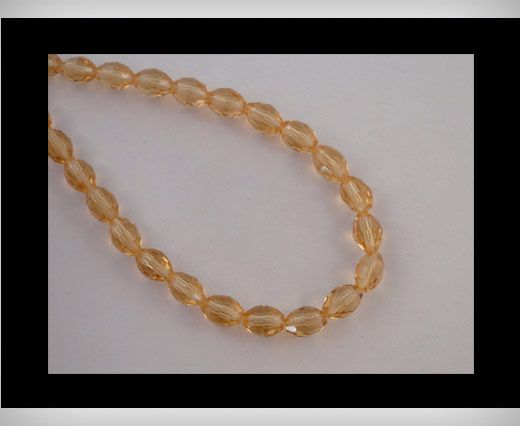 Rice Glass Beads -4mm*6mm-Topaz