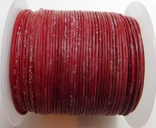Round Leather Cord -1mm-  RED