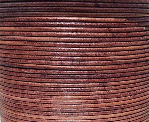 Round leather cord-2mm-SE V. COGNEC