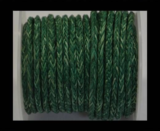 Round Braided Bolo Cords - 4mm - Vintage Green