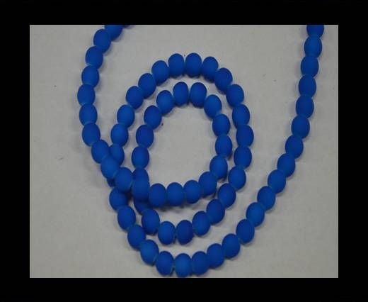 Round Glass beads 8mm - Neon Blue