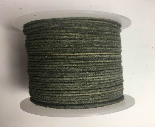 Round Hairy Leather -2mm-v. grey