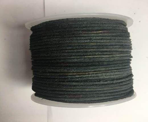 Round Hairy Leather -2mm-v black