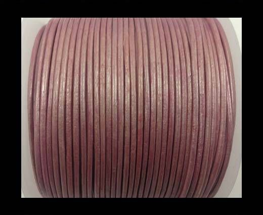 Round Leather Cord-1,5mm-metallic pink